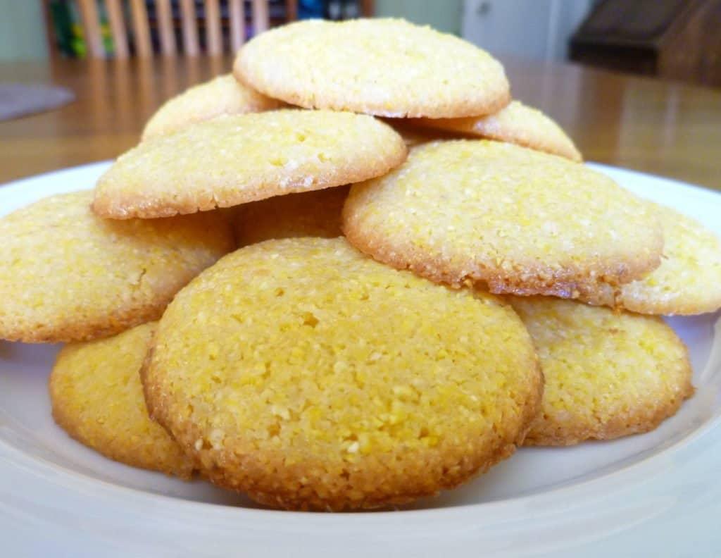 Meyer lemon polenta biscuits