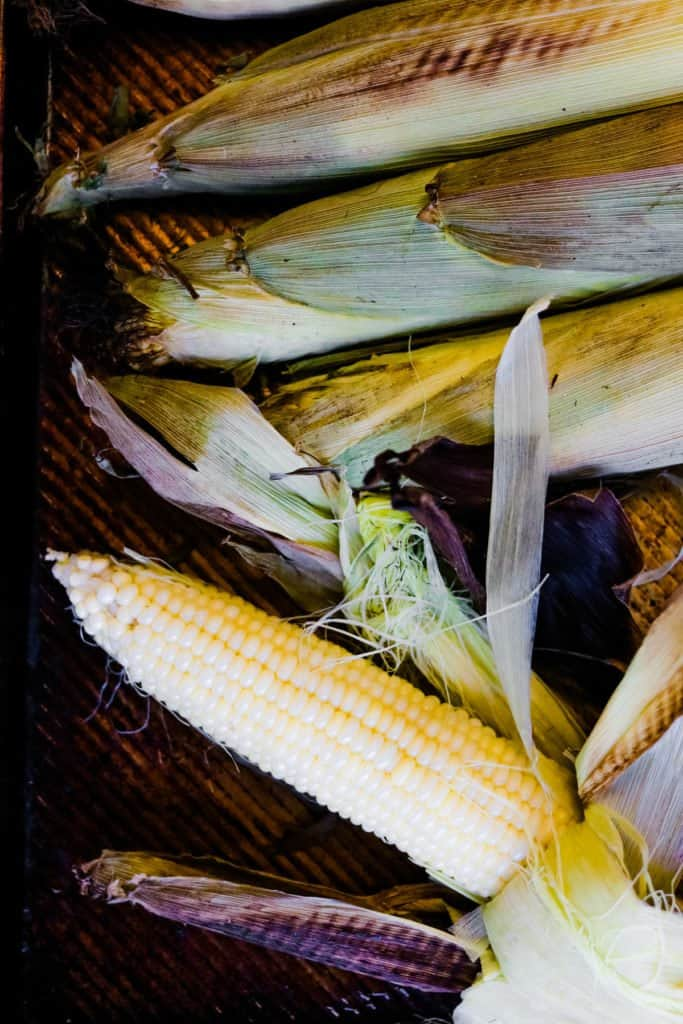 corn roasted in the husk