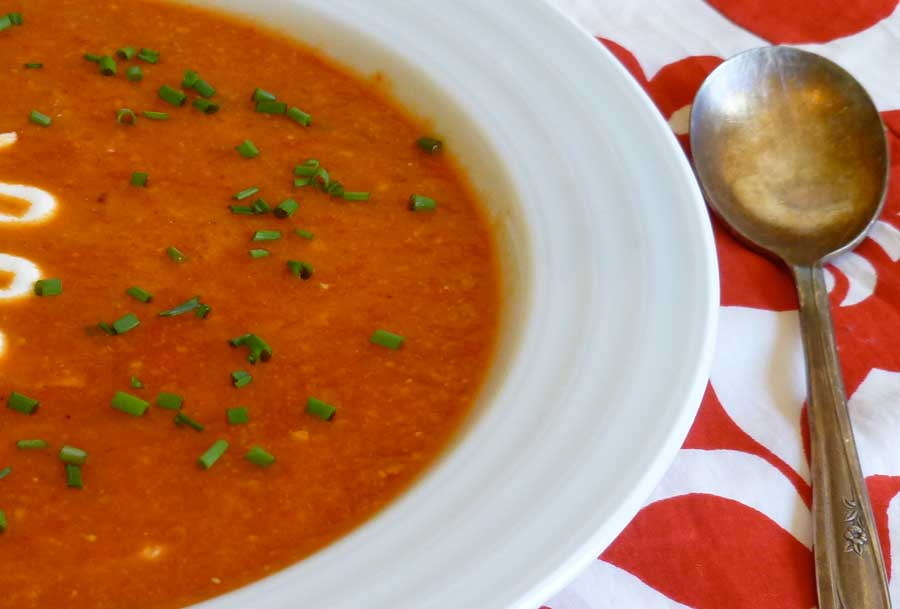 red pepper soup as served at Chez Panisse