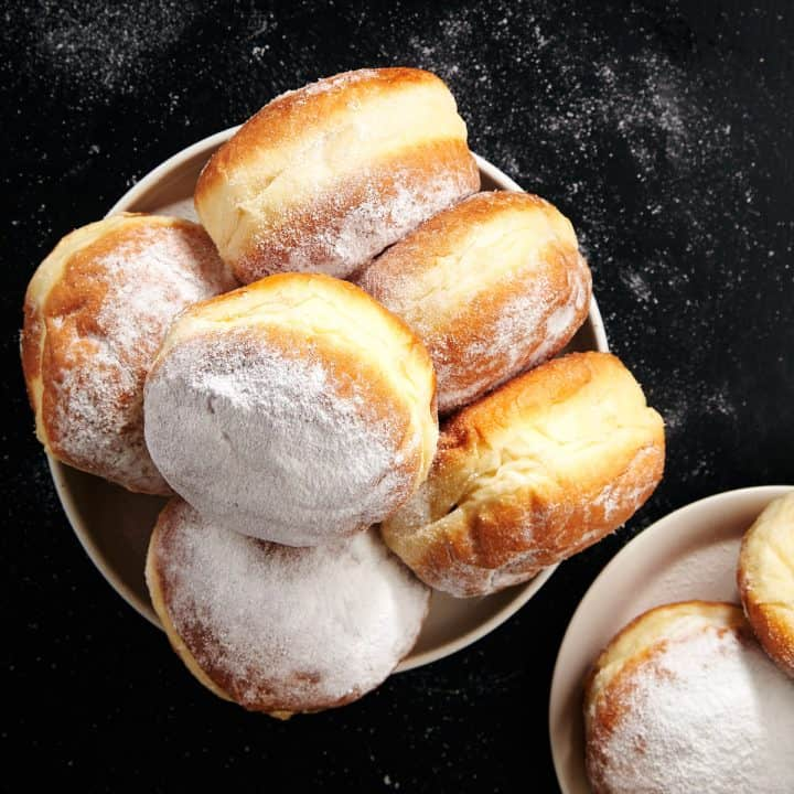 Easy Homemade Jelly Donuts or Sufganiyot