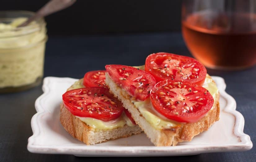Tomato Sandwich with Herb Mayonnaise
