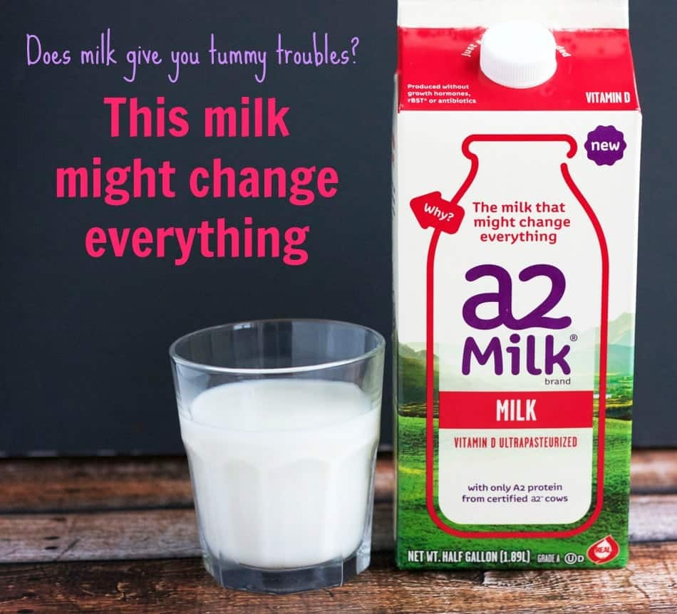 a2 milk carton with glass of milk