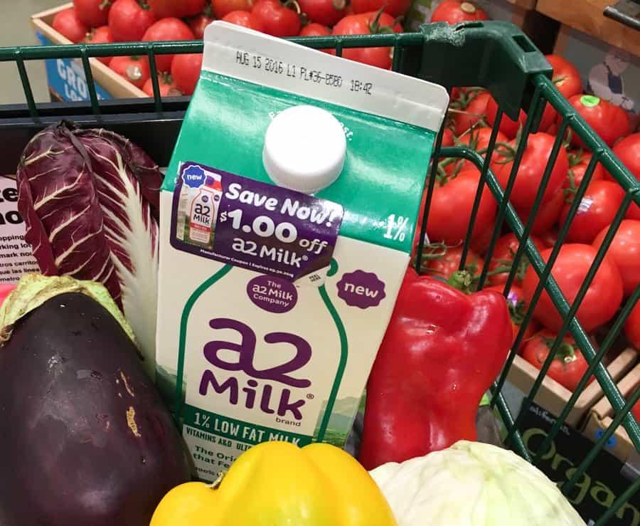a2 milk in shopping cart