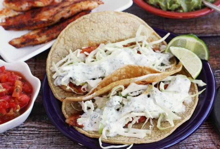 fish tacos cookeed in a cast iron skillet