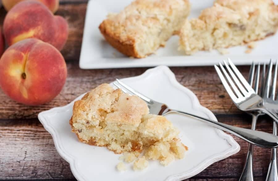 ginger peach scones