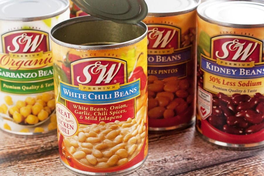 assorted S&W bean varieties in cans