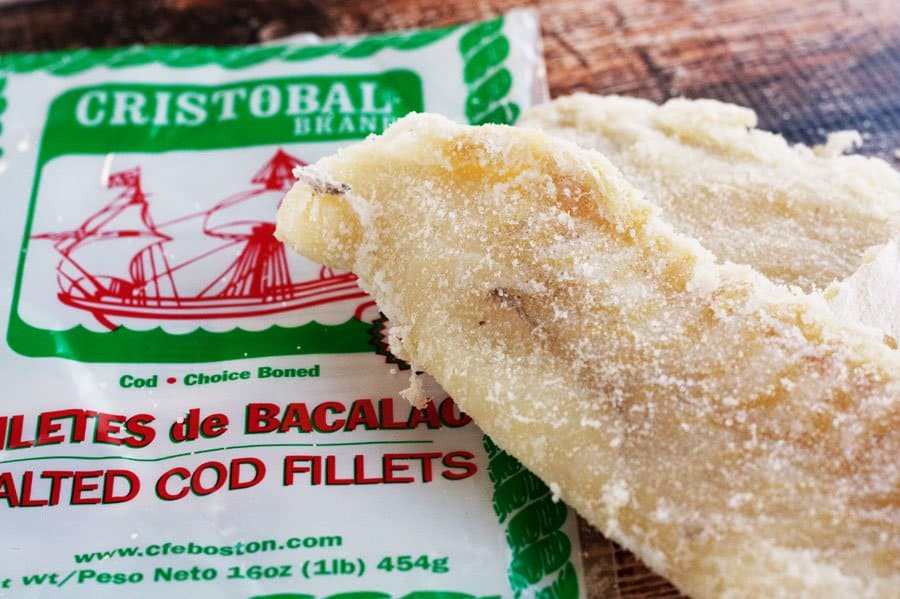 Cristobal salt cod with package