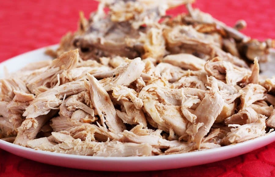shredded whole chicken from the instant pot