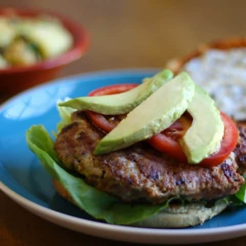 Chipotle Turkey Burgers with Cilantro-Lime Crema