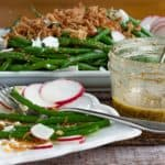 green bean salad with dressing