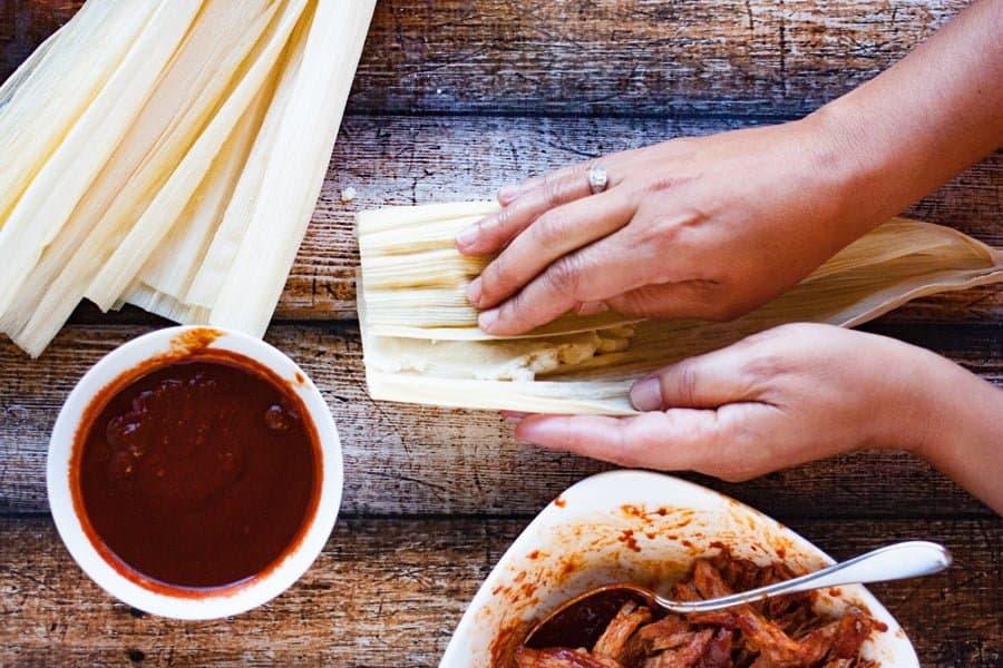 folding tamale wrapper