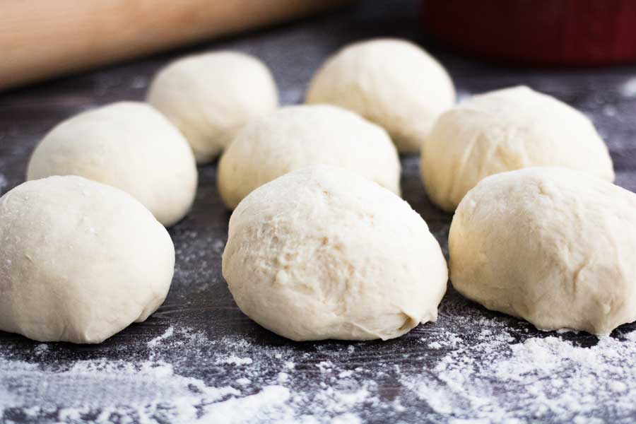 small rounds of homemade pita dough