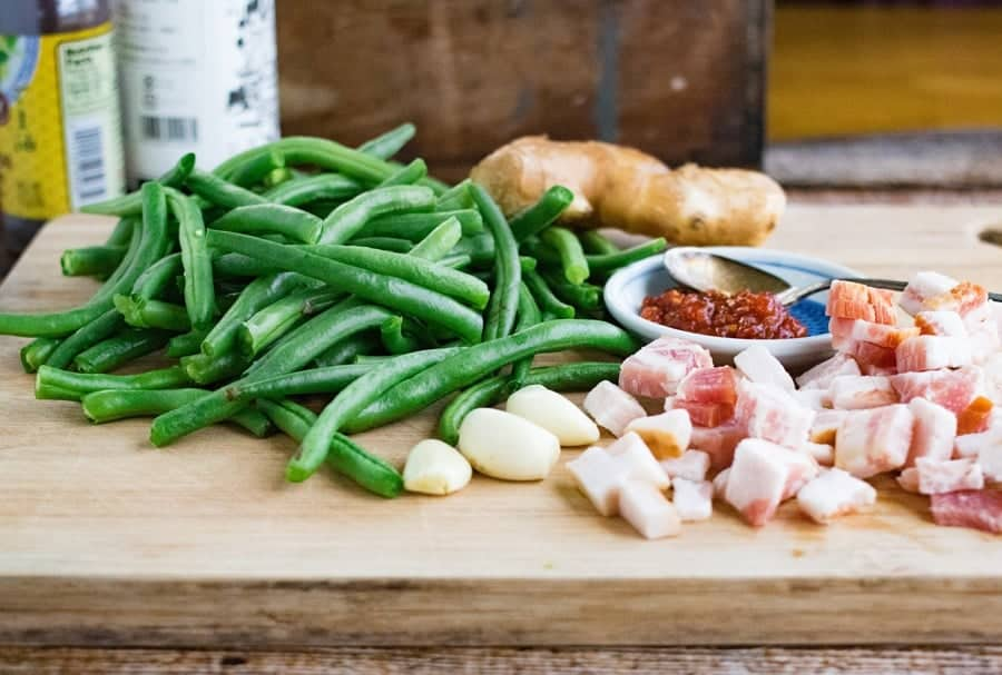 chinese dry fried green beans ingredients
