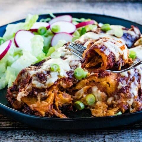 homemade chicken enchiladas with easy enchilada sauce