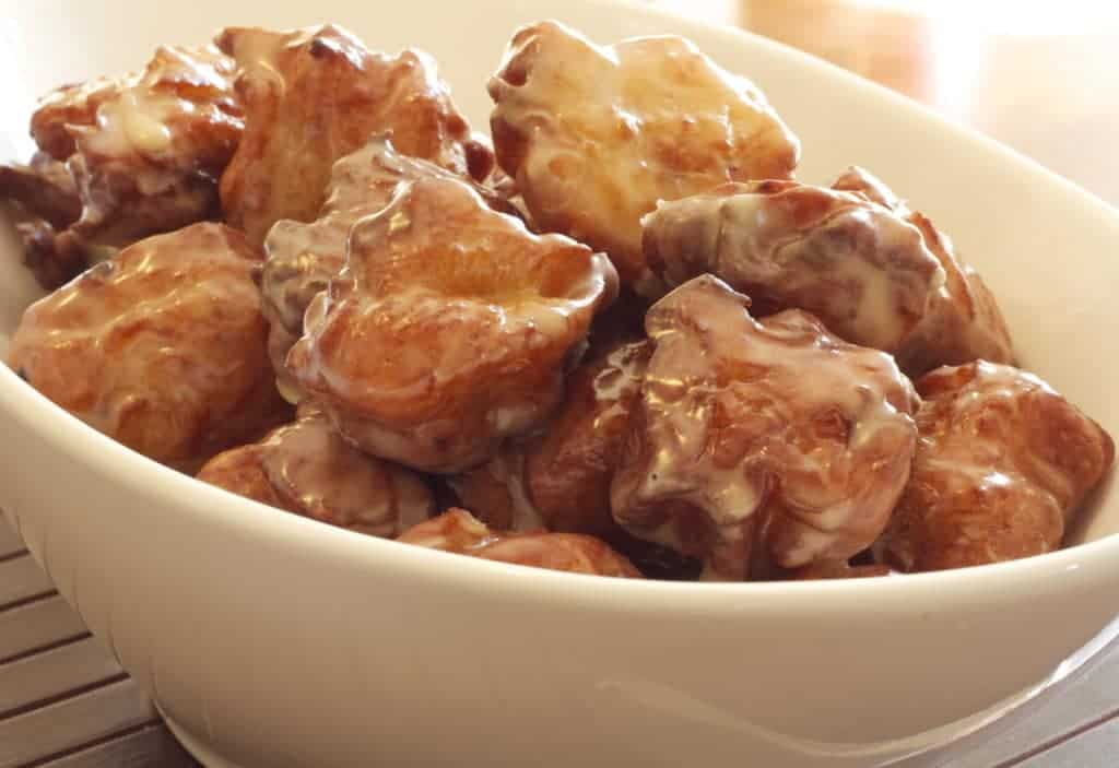 maple glazed bacon beignets for mardi gras