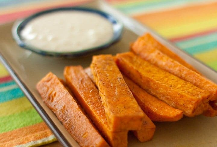 sweet potato fries with chinese 5 spice