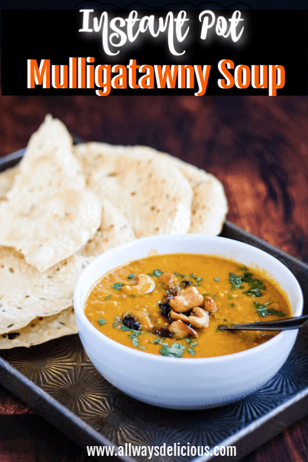 Instant pot mulligatawny soup pinterest pin