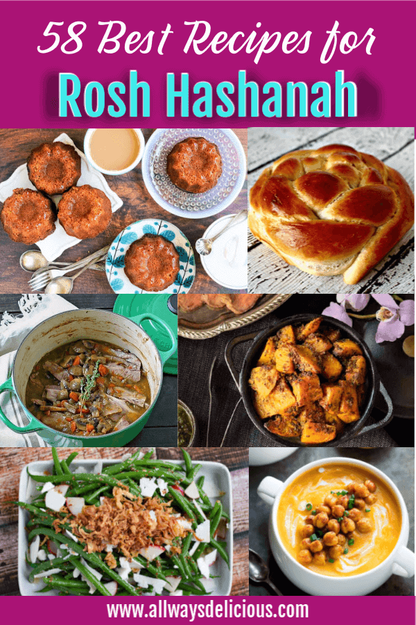 58 best recipes for rosh hashanah collage
