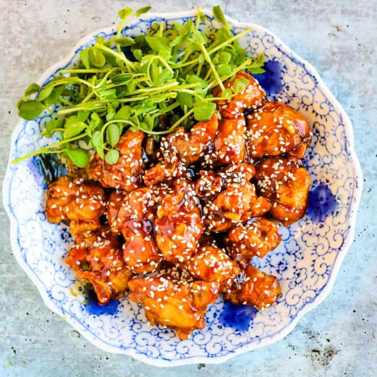 Easy Crispy Air Fryer Sesame Chicken All Ways Delicious