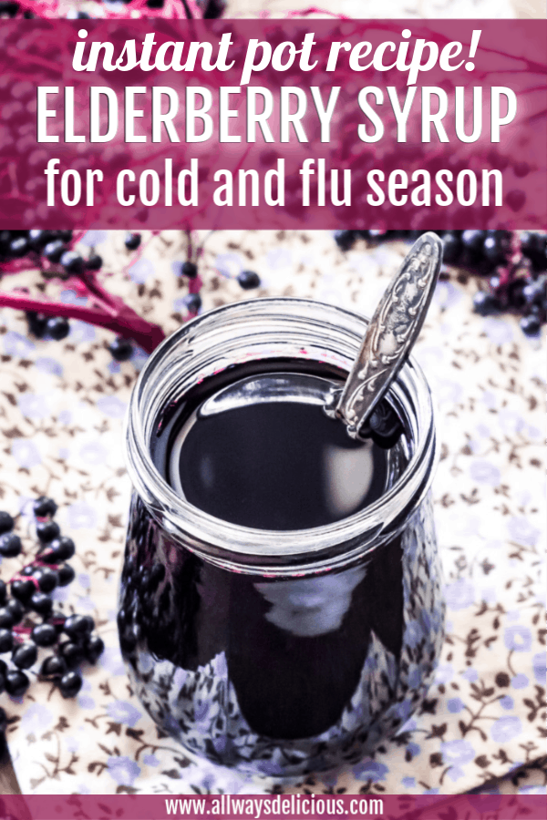 pinterest pin for elderberry syrup