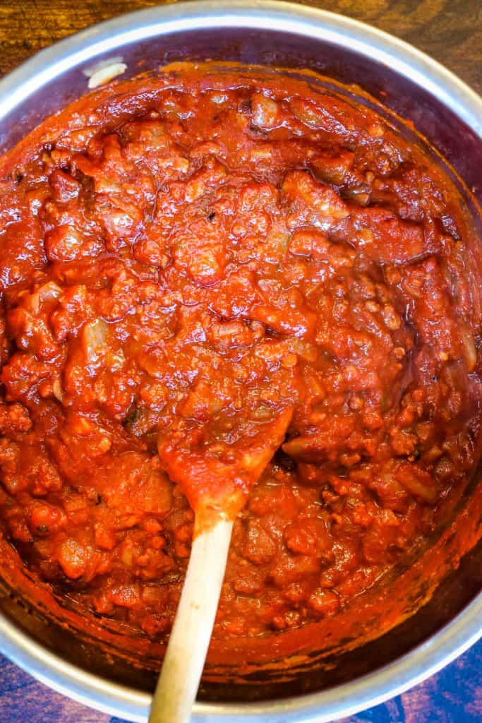 finished spaghetti sauce in the instant pot