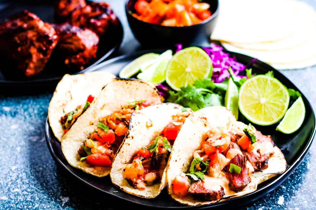 Korean Tacos with Kimchi Salsa