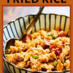 pinterest pin for pork fried rice