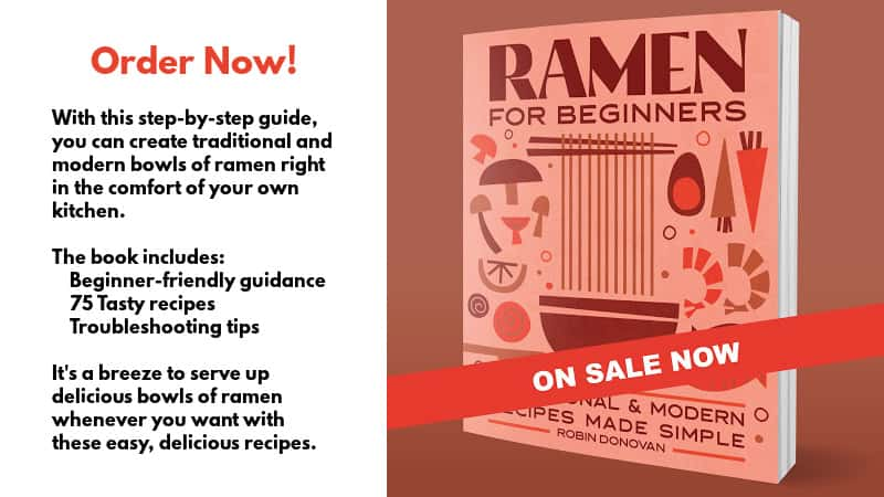 Promo for Ramen for Beginners cookbook