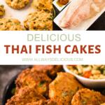 Pinterest pin for Thai Fish Cakes