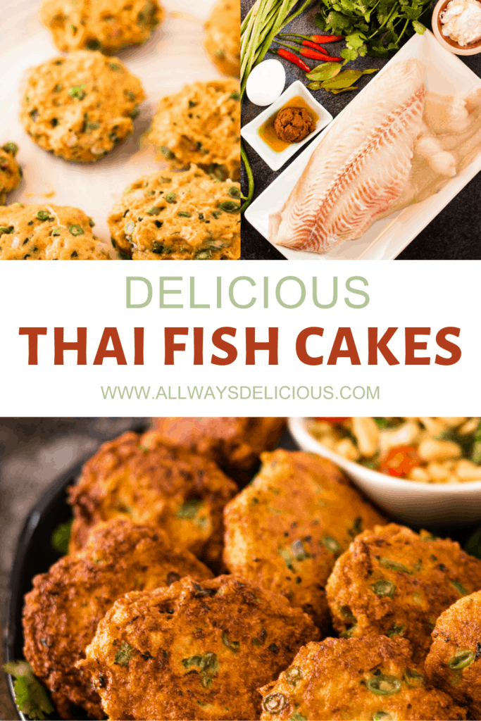Pinterest pin for Thai Fish Cakes