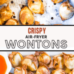 pinterest pin for air fryer wontons